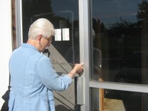 Sr. Mary Ann Vogel unlocks new office